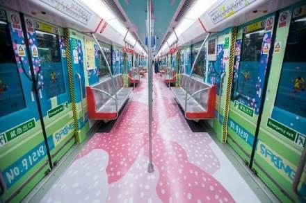 杭州惊现动漫地铁专列 网友:不忍心落脚