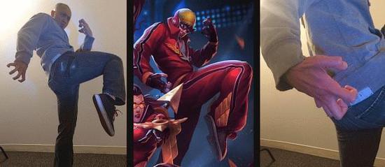 《英雄联盟》原画竟是来自设计师们的逗比自拍?