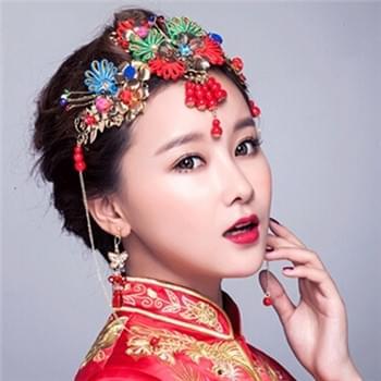 简单中式新娘发型 简约唯美的中式造型
