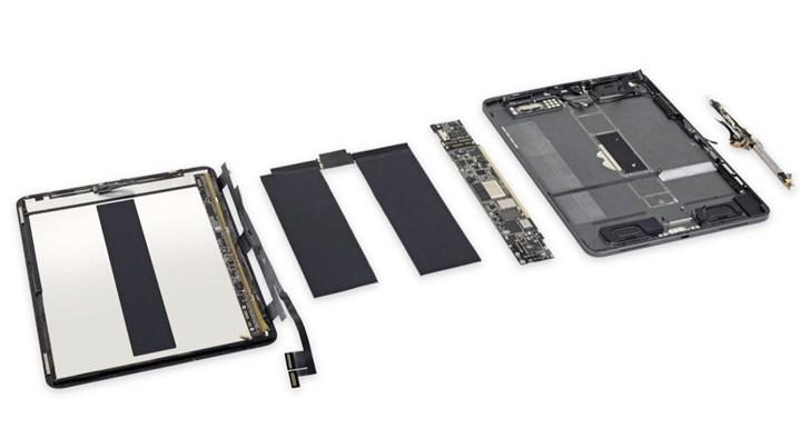 11英寸苹果iPad Pro拆解:电池易换 接口模块化