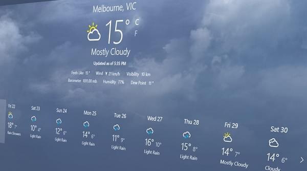 Windows 10天气等应用都将迎来半透明瓷贴的照片 - 1