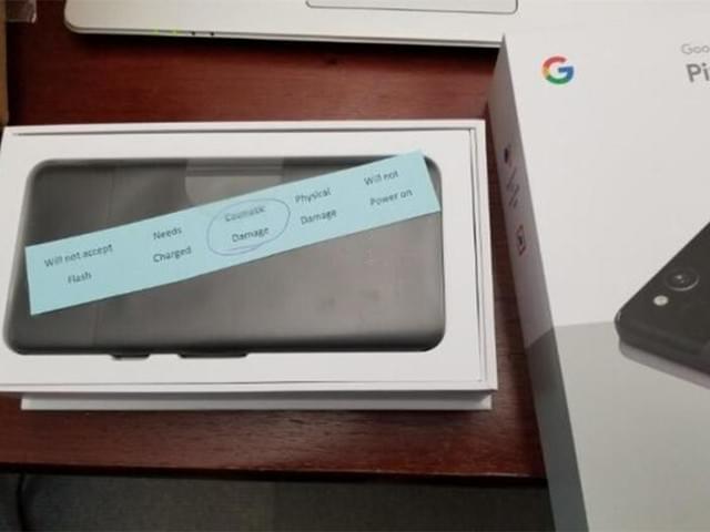 谷歌惹大麻烦:用户竟收到质检不过关Pixel 2