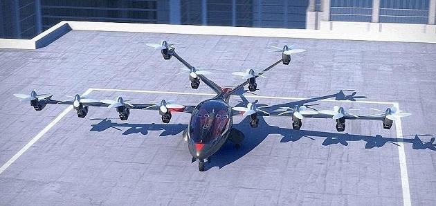 未来版空中出租车:可垂直起落 速度