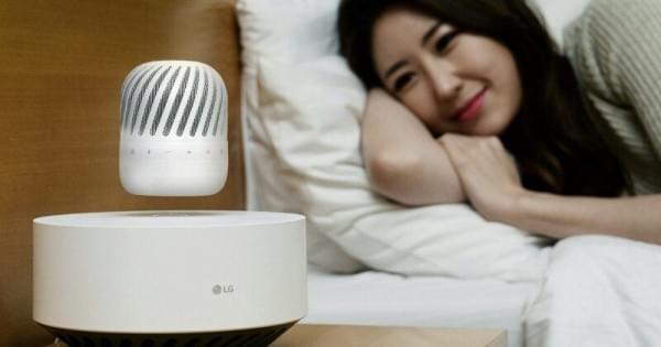 LG发布360度浮动扬声器 可无线充电的照片 - 1