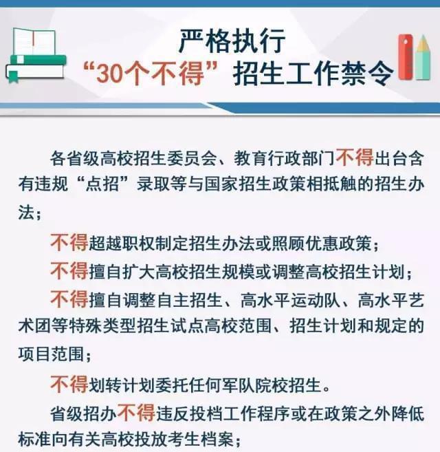 2017高校招生禁令出台!