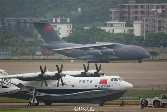 中国两款大飞机珠海航展首次霸气同框
