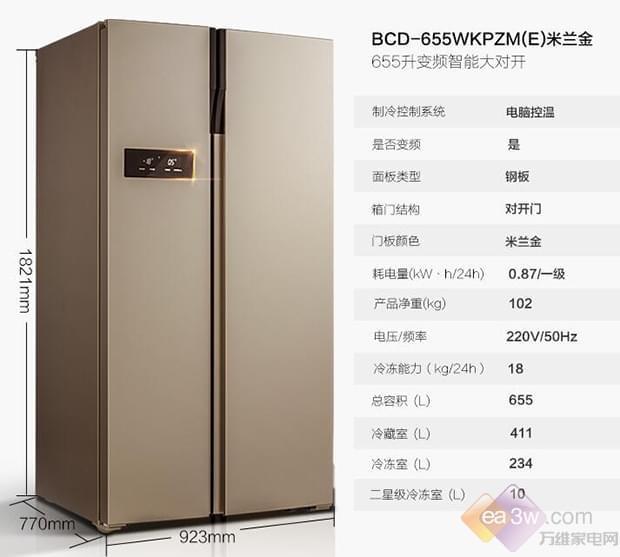 美的(Midea)BCD-655WKPZM(E)