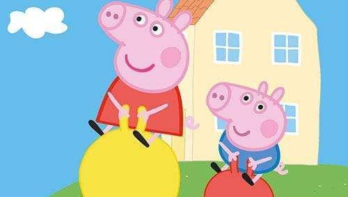 """"""" 孩子爱猪叫,学狗爬,一口一个""""俺"""" 《小猪佩奇》又名《粉红猪小妹》"""