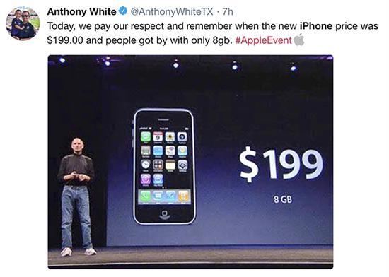 令人怀念的199美元苹果手机时代。来源:网络