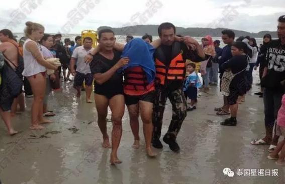 泰国南部一载有中国游客游船翻船 多人落水受伤