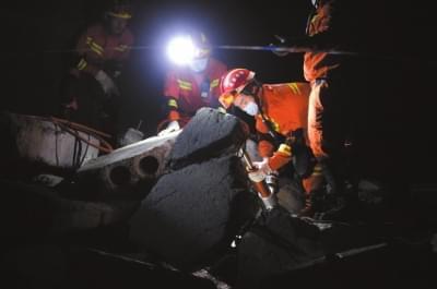 消防演练地震灾害救援