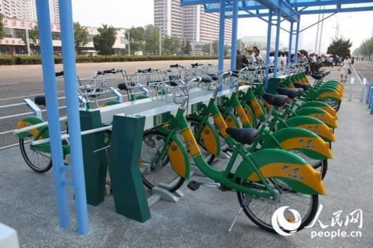 朝鲜平壤市推广有桩共享单车 方便市民出行[图]