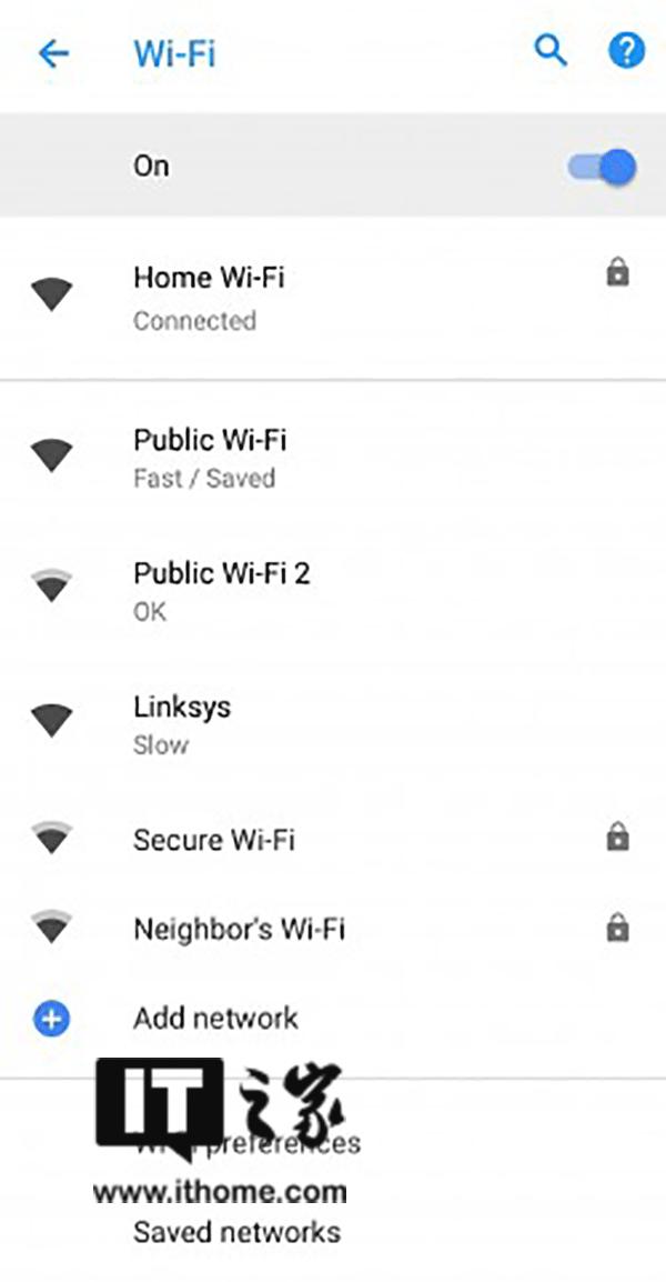 Android8.1新功能:显示公共WiFi网络速度