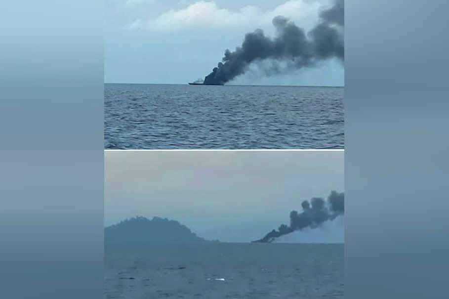 印尼一艘韓國造導彈艇起火爆炸 3小時后沉沒