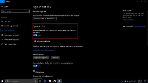 Windows 10新功能:检测到用户不在电脑前就自动锁屏的照片 - 2