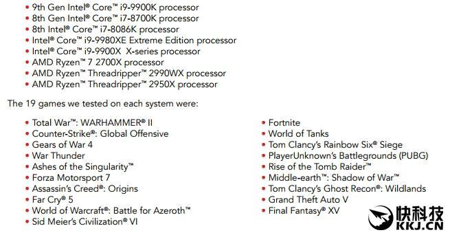 Intel i9-9900K游戏测试惹争议:能领先AMD Ryzen 7 2700X 50%?