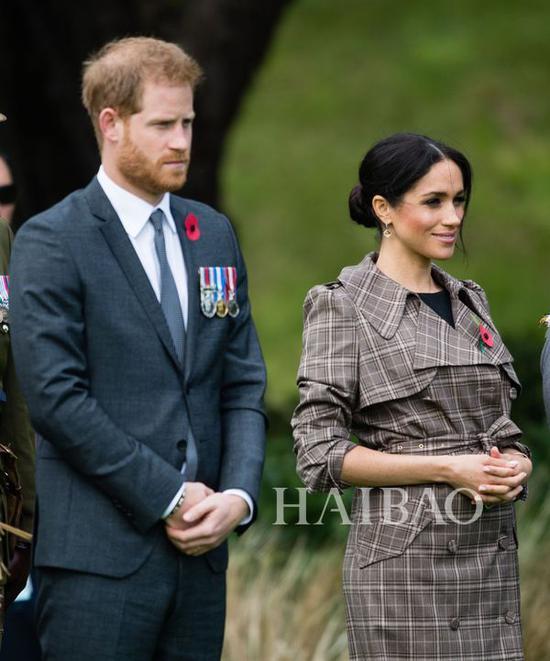2018年10月28日梅格汉·马克尔 (Meghan Markle) 与哈里王子 (Prince Harry) 威灵顿活动街拍