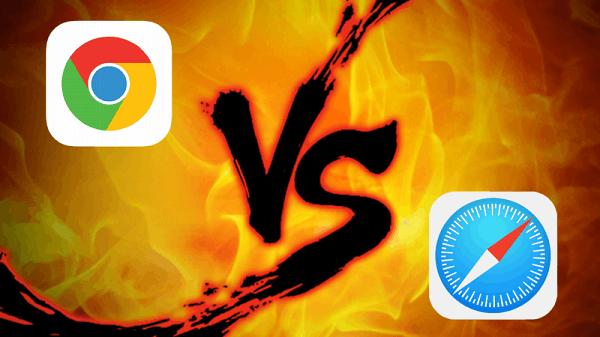 两个iPhone浏览器的对决:Safari与Chrome的照片 - 1