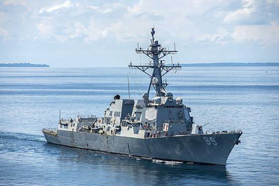 """美军驱逐舰""""绕台湾岛""""了吗? 专家:或是躲台风"""