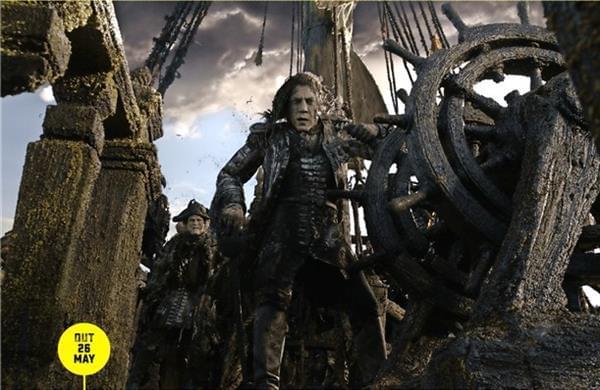 《加勒比海盗5》首曝剧照 大反派船长现身