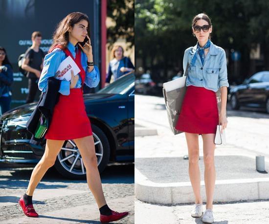 蓝色+红色