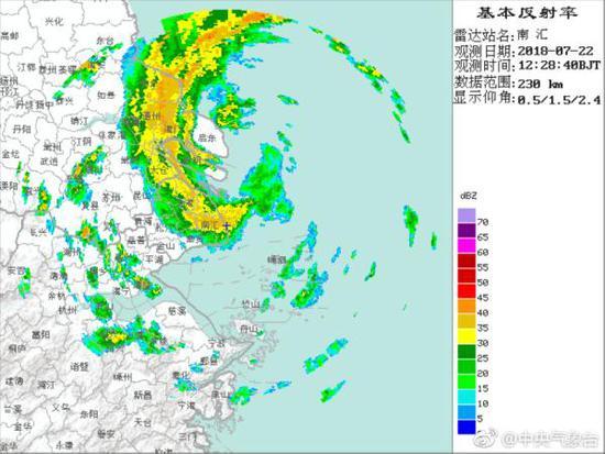 台风安比已于12时30分前后在上海崇明岛沿海登陆