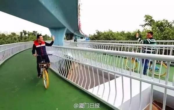 全国首条空中自行车道建成 全长7.6公里的照片 - 3