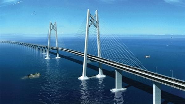 中国造桥技术最高体现:港珠澳大桥主体贯通的照片 - 1