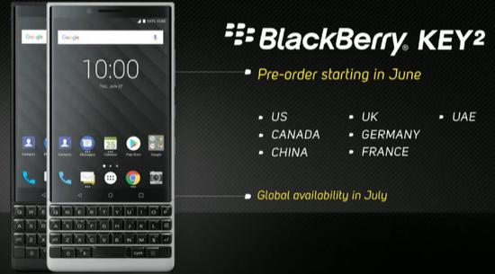 TCL发布黑莓新智能机:配备骁龙660 售价649美元