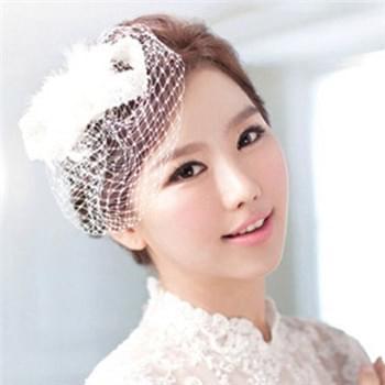 韩式婚纱照发型新娘唯美造型你烫发哪款_网易怀孕前喜爱有v发型吗图片