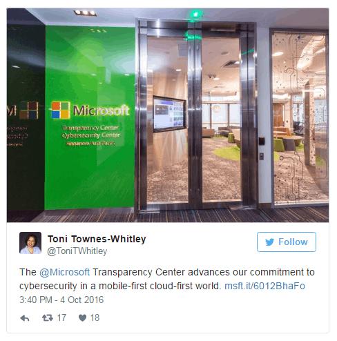 微软在新加坡开设全新的透明中心及网络安全中心