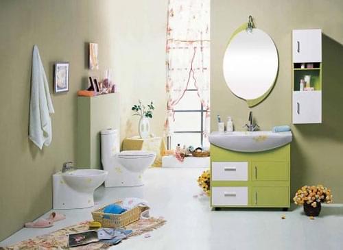 卫浴装修,干湿分区,瓷砖,沐浴区,青岛装修