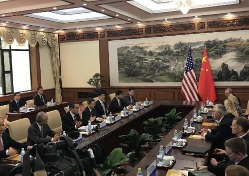 蒂勒森:朝鲜半岛局势达危险局面 将与中合作应对