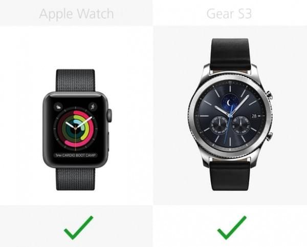 Apple Watch Series 2和三星Gear S3规格参数对比的照片 - 20