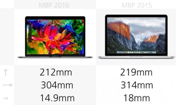 前后两代13英寸MacBook Pro规格参数对比的照片 - 2