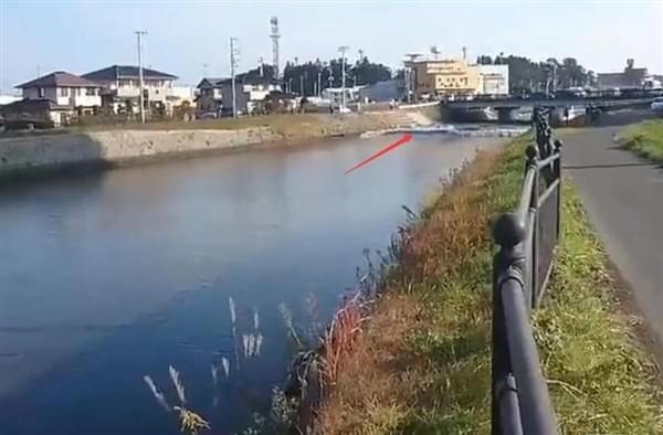 日本震后河水逆流