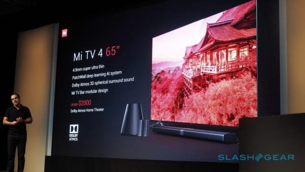 小米电视4美国亮相 机身仅厚4.9mm