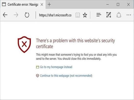 SHA-1被破解:微软决定在Edge/IE上封杀之