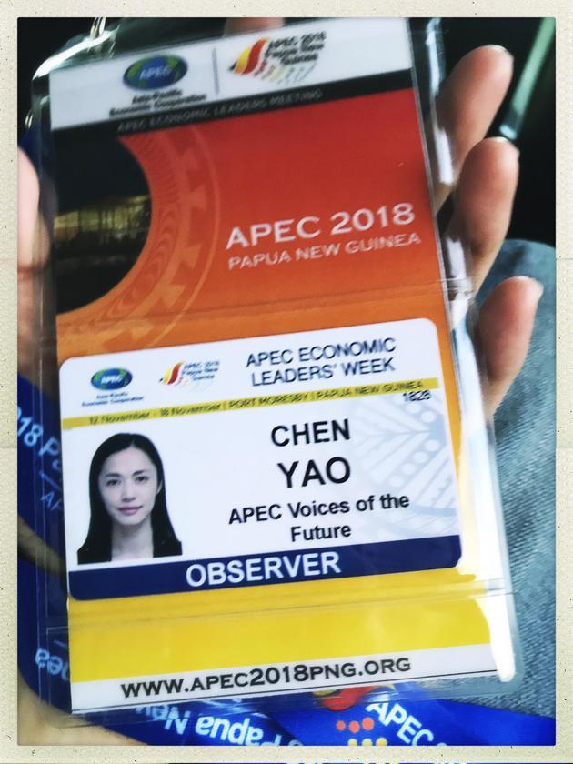 姚晨将出席 APEC.  CEO峰会. 戴帽素颜自拍露微笑