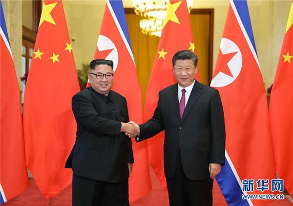 6月19日,中共中央总书记、国家主席习近平接见来华访问的朝鲜劳动党委员长、朝鲜民主主义人民共和国国务委员会委员长金正恩。
