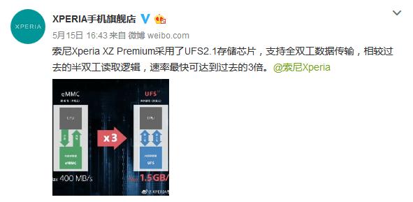 索尼嘲讽华为:新旗舰标配UFS 2.1闪存 比eMMc快3倍的照片 - 2