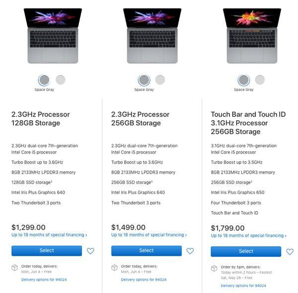苹果Macbook部分产品出现缺货:暗示将发新品