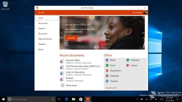 Windows Insider项目成员现可体验新版Office Hub的照片 - 3