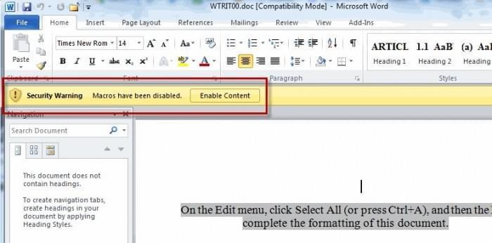 新恶意Word文档现身网络 可攻击Win和macOS系统