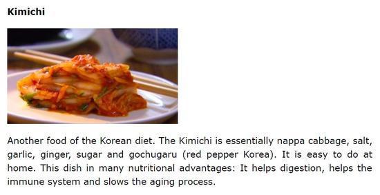 ▲英文美食博客介绍韩国泡菜的膳食价值