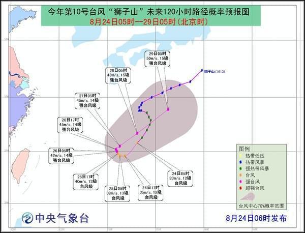 """""""狮子山""""加强为台风级别"""
