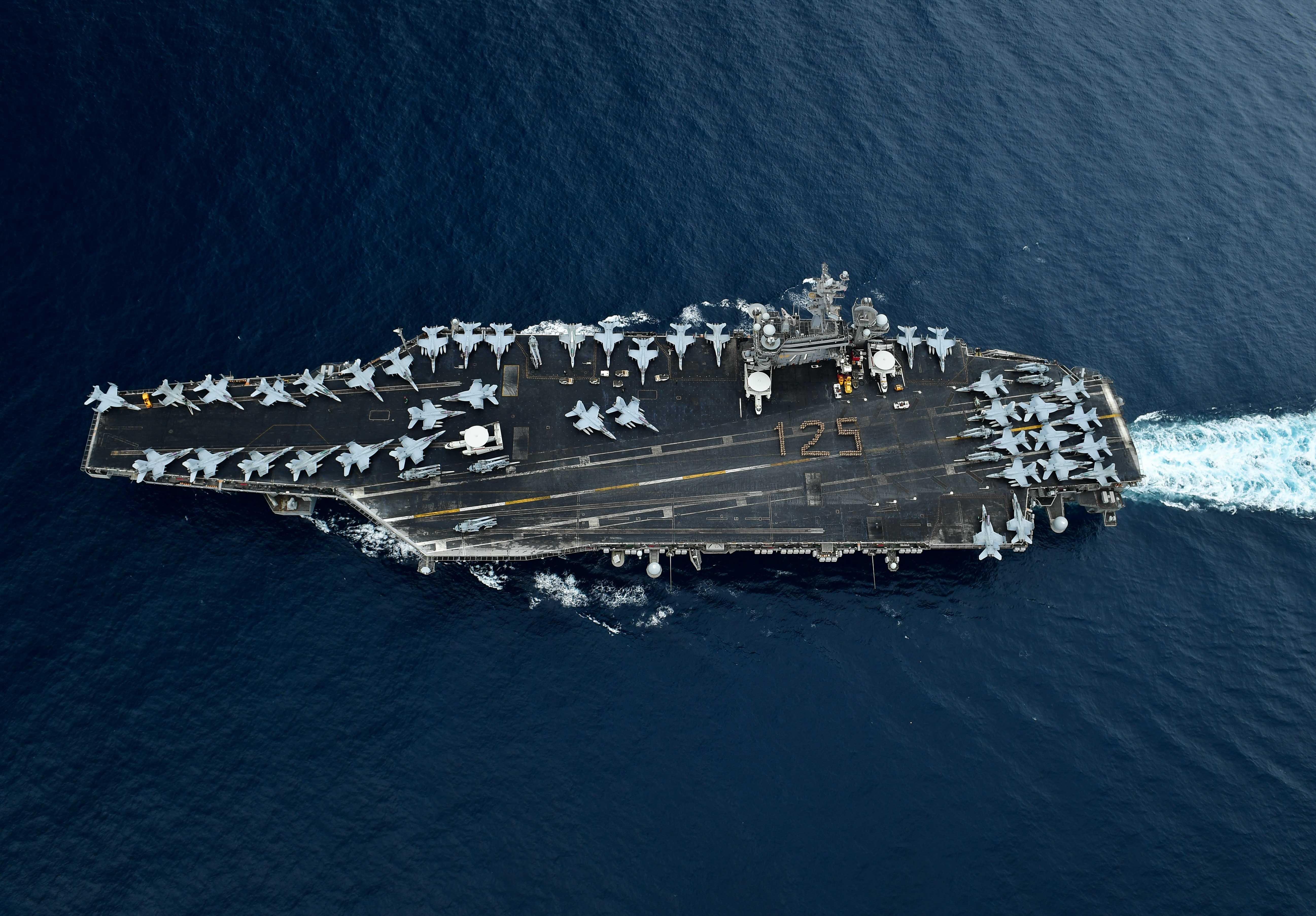 美海军宣布第九航母打击大队今日进入南海海域