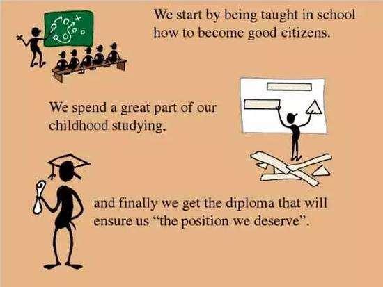 We start by being taught in school how to become good citizens.
