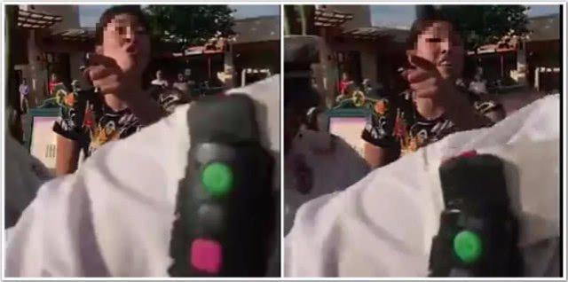 夫妻在迪士尼顺走别人童车:要放包 有孩子了不起啊