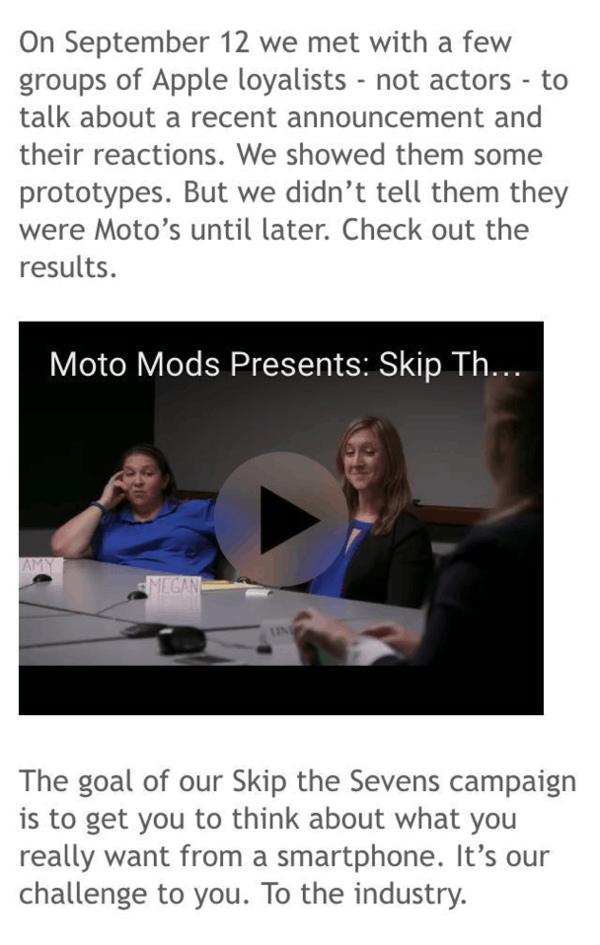 Moto打广告嘲讽苹果:不再是一个冒险者的照片 - 6